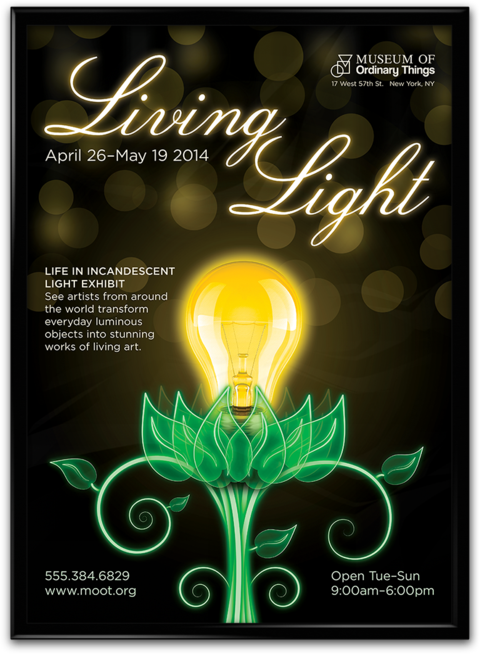 Living Light Exhibition Poster